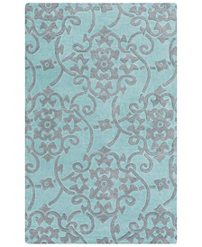 CLOSEOUT!  Cosmopolitan COS-9202 Teal 5' x 8' Area Rug