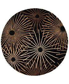 Surya Forum FM-7090 Black 4' Round Area Rug
