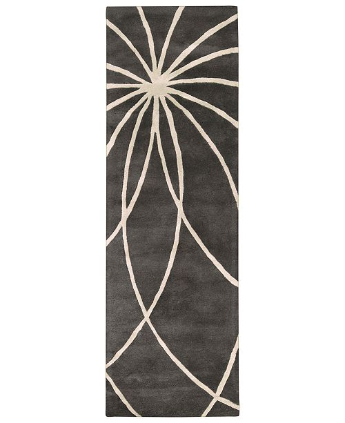 "Surya Forum FM-7173 Charcoal 2'6"" x 8' Runner Area Rug"