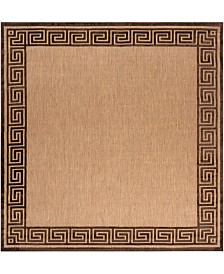 "Surya Portera PRT-1030 Dark Brown 7'6"" Square Area Rug, Indoor/Outdoor"