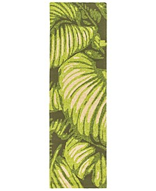 "Rain RAI-1264 Lime 2'6"" x 8' Runner Area Rug, Indoor/Outdoor"