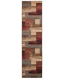 "Riley RLY-5004 Dark Red 2' x 7'5"" Runner Area Rug"