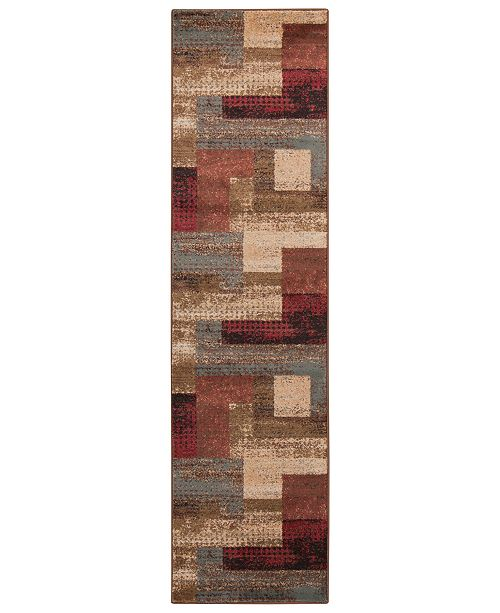 "Surya Riley RLY-5004 Dark Red 3' x 7'2"" Runner Area Rug"