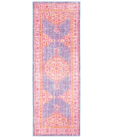 "Surya Germili GER-2309 Bright Purple 2'11"" x 7'10"" Runner Area Rug"