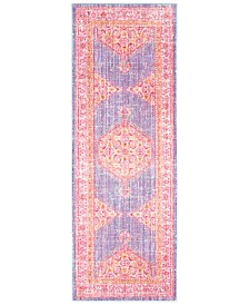 "CLOSEOUT! Surya  Germili GER-2309 Bright Purple 2'11"" x 7'10"" Runner Area Rug"