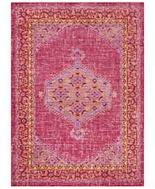 "CLOSEOUT!  Germili GER-2313 Bright Pink 3'11"" x 5'7"" Area Rug"