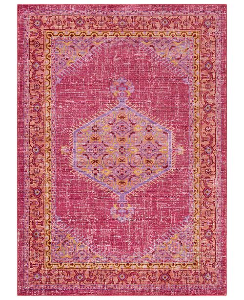 "Surya CLOSEOUT!  Germili GER-2313 Bright Pink 3'11"" x 5'7"" Area Rug"