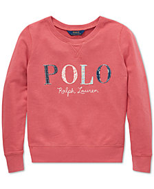 Polo Ralph Lauren Big Girls Logo Graphic Sweatshirt
