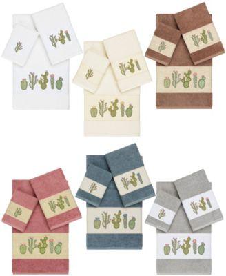 Mila 4-Pc. Embroidered Turkish Cotton Bath and Hand Towel Set