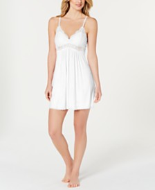 I.N.C. Ultra Soft Lace-Trimmed Knit Chemise Nightgown, Created for Macy's