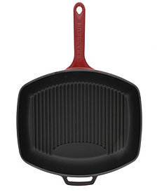 "Chasseur French Rectangular Enameled Cast Iron 12"" Grill Pan"
