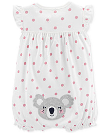 Carter's Baby Girls Cotton Koala Dot-Print Romper
