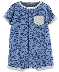 Carter's Baby Boys Cars-Print Cotton Romper