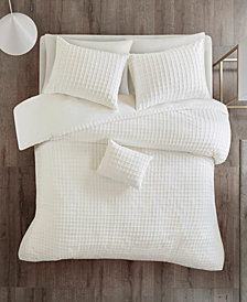 Urban Habitat Sadie Full/Queen Cotton Chenille Jacquard 4-Piece Comforter Set