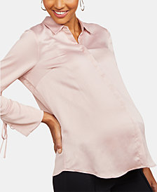 Motherhood Maternity Button-Front Shirt