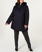 59f141a08f2 Jones New York Plus Size Hooded Raincoat
