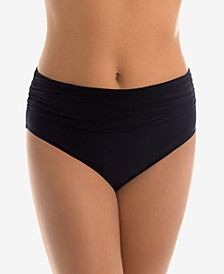 Jersey Shirred Tummy Control Bikini Bottoms