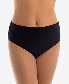 Magicsuit Jersey Shirred Tummy Control Bikini Bottoms