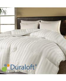 500 Thread Count Damask Stripe Duraloft® Down Alternative Full/Queen Comforter