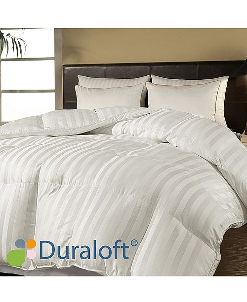 Blue Ridge 500 Thread Count Damask Stripe Duraloft® Down Alternative Twin Comforter