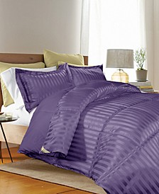 3 Piece Reversible Down Alternative Twin Comforter Set
