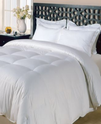 240 Thread Count Cotton White Goose Feather Down Maximum Warmth Twin Comforter