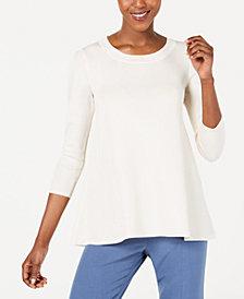 Anne Klein 3/4-Sleeve Swing Sweater