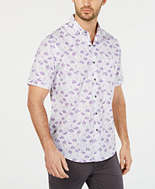 Tasso Elba Men's Arbusto Floral-Print Shirt, Created for Macy's