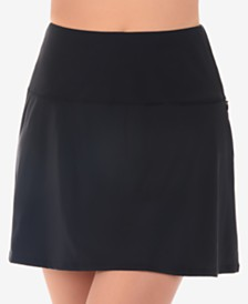 Miraclesuit Solid Basic Tummy-Control Fit & Flare Swim Skirt