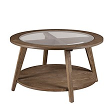 Walstonburg Round Cocktail Table with Glass Top