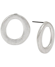 Robert Lee Morris Soho Silver-Tone Open Circle Stud Earrings