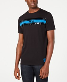 DKNY Men's Imperial Stripe Graphic T-Shirt