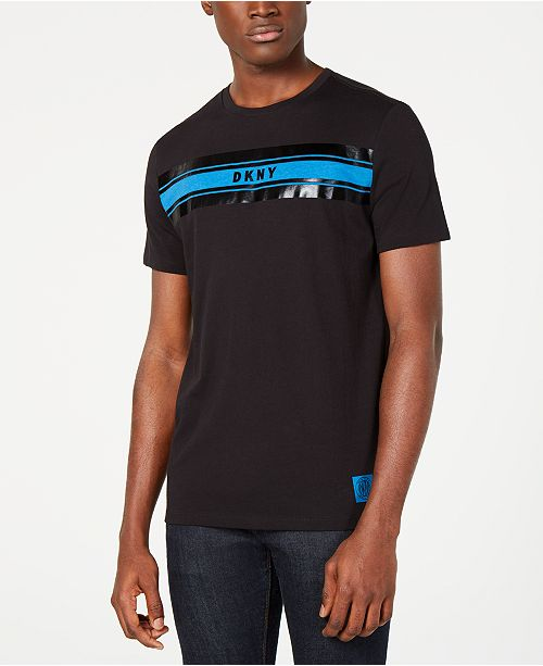 Dkny Men S Imperial Stripe Graphic T Shirt Reviews T Shirts