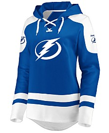 Majestic Women's Tampa Bay Lightning Centre Lace up Crew Sweatshirt