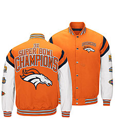 Authentic NFL Apparel Men's Denver Broncos Home Team Varsity Jacket