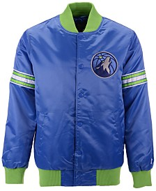 G-III Sports Men's Minnesota Timberwolves Draft Pick Starter Satin Jacket