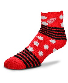 For Bare Feet Detroit Red Wings Homegater Sleep Soft Socks