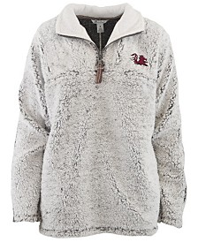 Pressbox Women's South Carolina Gamecocks Sherpa Quarter-Zip Pullover