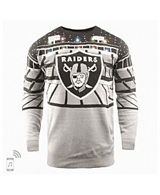 Forever Collectibles Men's Oakland Raiders Bluetooth Sweater