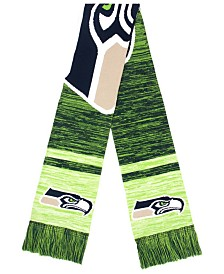 Forever Collectibles Seattle Seahawks Knit Color Blend Big Logo Scarf