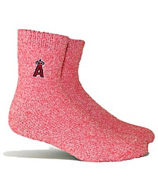 Los Angeles Angels Parkway Team Fuzzy Socks
