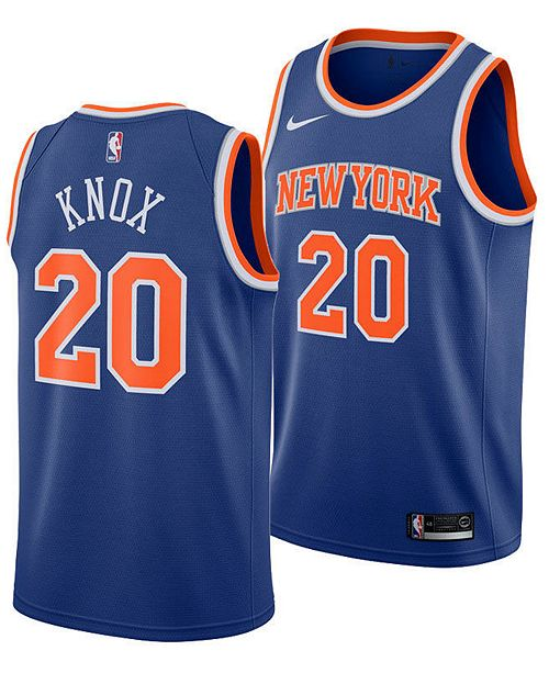 ae629eb3b81 ... Nike Kevin Knox New York Knicks Icon Swingman Jersey