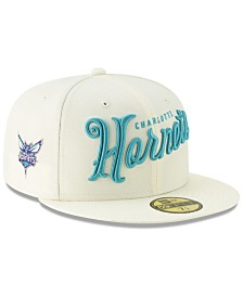 New Era Charlotte Hornets Jersey Script 59FIFTY-FITTED Cap