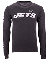644347af0 Authentic NFL Apparel Men s New York Jets Streak Route Long Sleeve T-Shirt