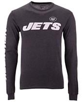 279c4fea679 Authentic NFL Apparel Men's New York Jets Streak Route Long Sleeve T-Shirt