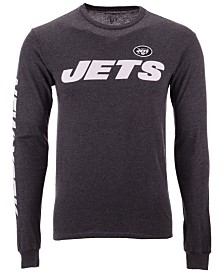 Authentic NFL Apparel Men's New York Jets Streak Route Long Sleeve T-Shirt