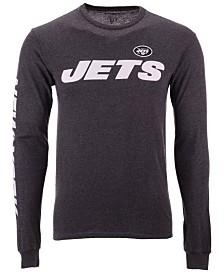 105a61567 Authentic NFL Apparel Men s New York Jets Streak Route Long Sleeve T-Shirt