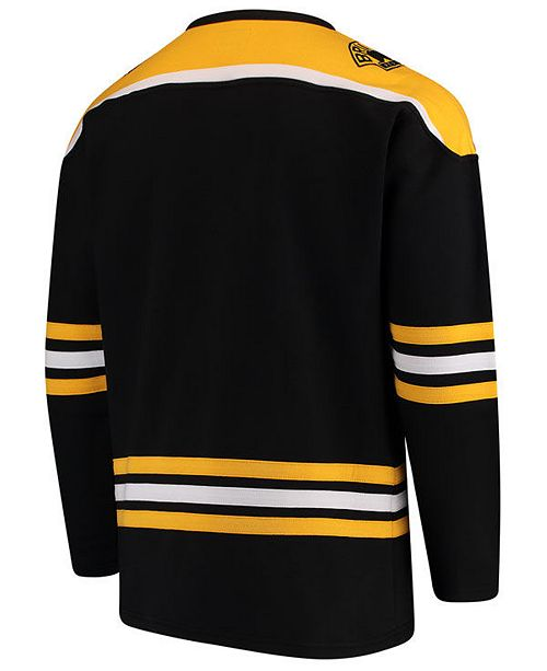 49ca66bdc08 Majestic Men s Boston Bruins Breakaway Lace Up Crew Sweatshirt ...