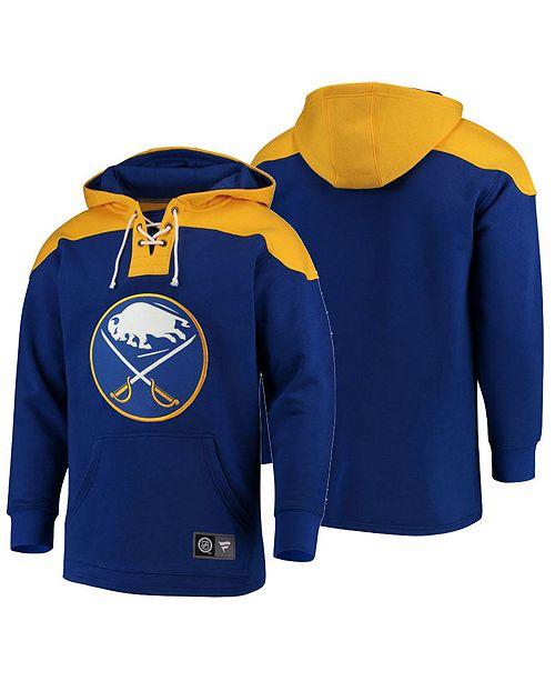 Majestic Men s Buffalo Sabres Breakaway Lace Up Hoodie - Sports Fan ... 97dd0a62d