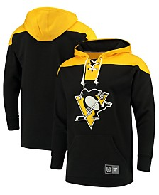 Majestic Men's Pittsburgh Penguins Breakaway Lace Up Hoodie